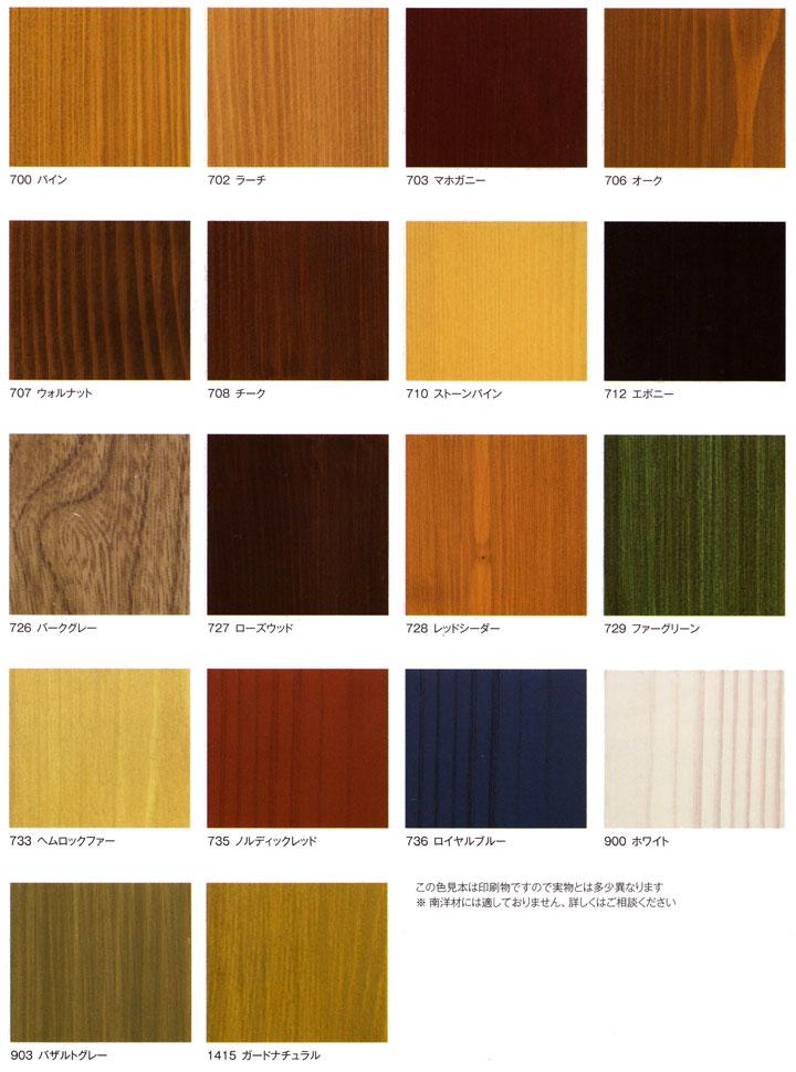 オスモ(OSMO)自然塗料 ウッドステインプロテクター カラーリスト